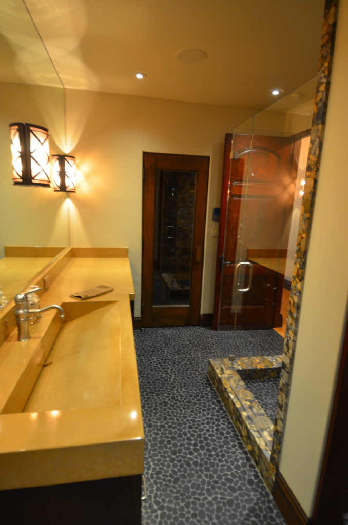 exotic countertop material and stonework