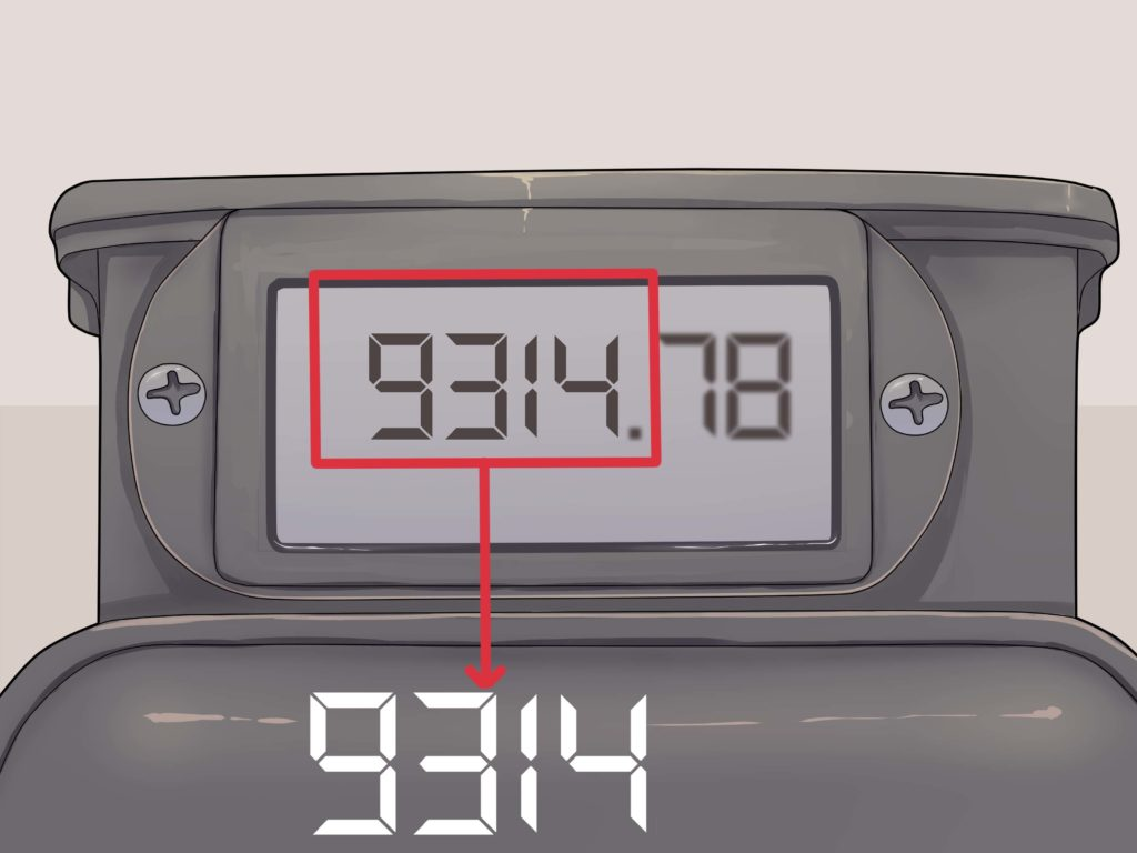 Image of digital gas meter readout