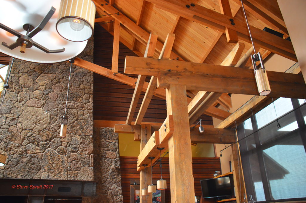 Image of attractive exposed roof beam structural elements
