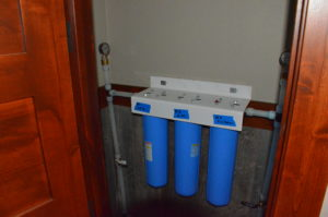 Image showing array of main water service filters