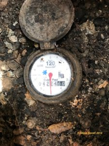 Image showing main water service meter