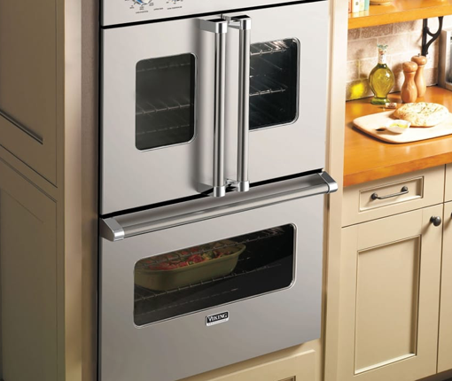 Image of stainless steel kitchen ovens