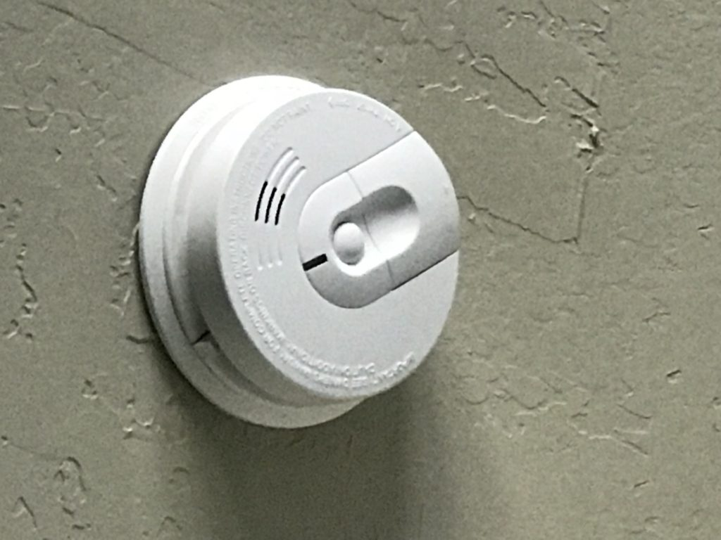 Image of smoke detectors mounted to ceiling