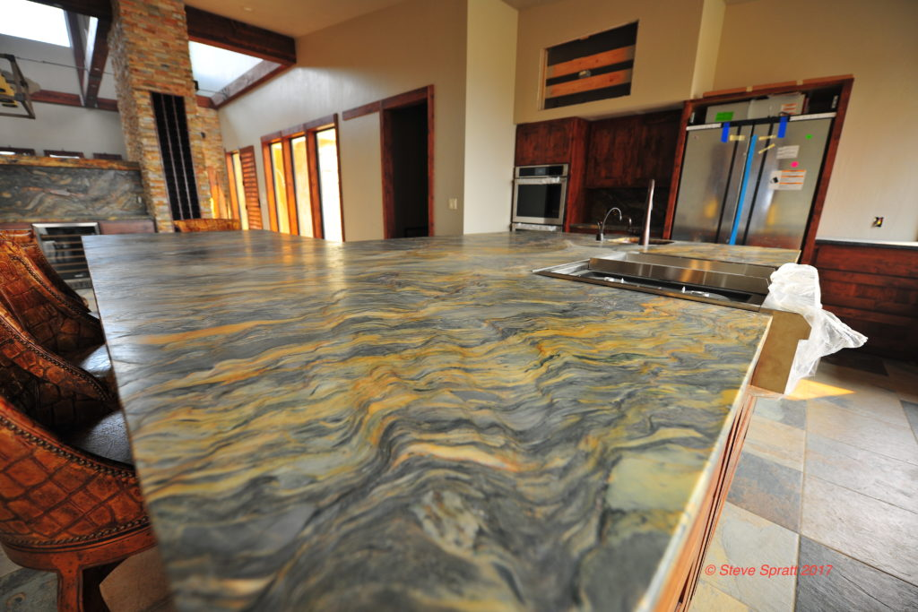 Image showing surface of highly figured granite countertop