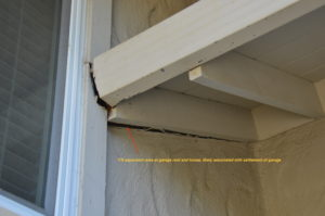Structural cracks in stucco