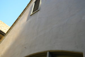 Badly cracked stucco