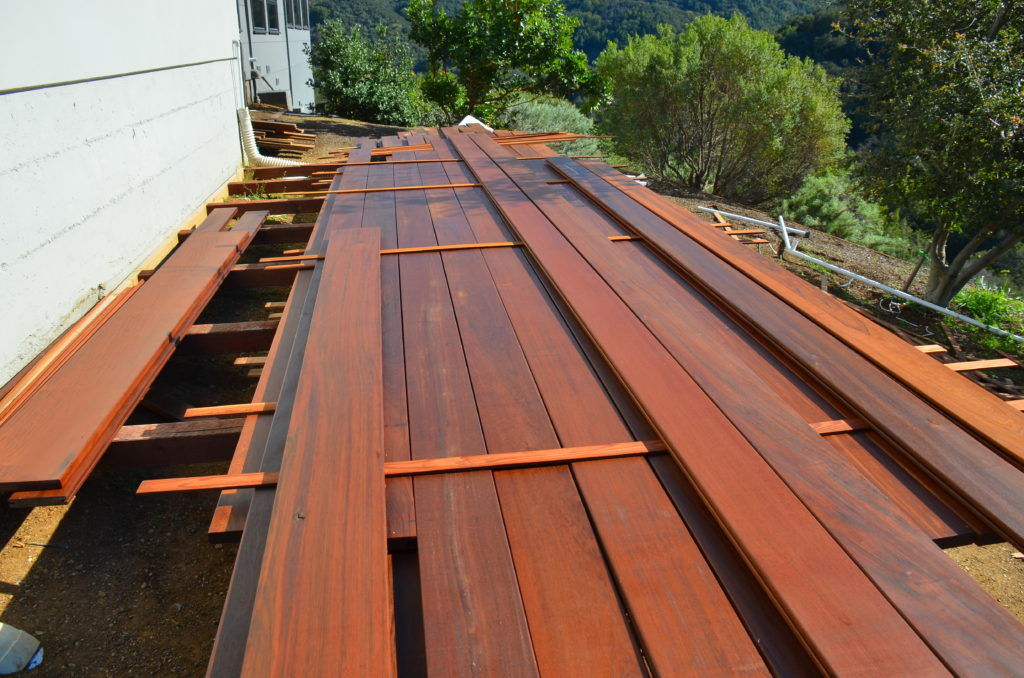 pre-finishing a wood deck