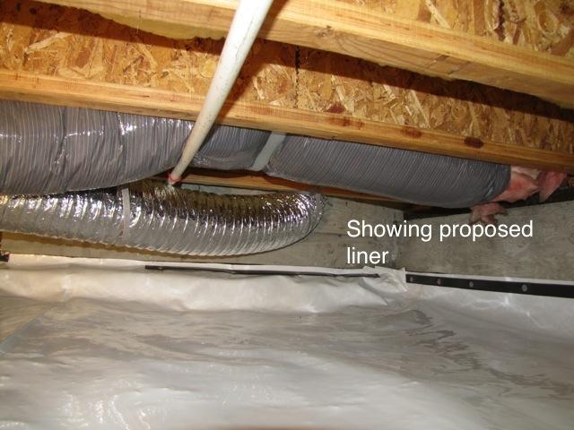 Crawlspace liner